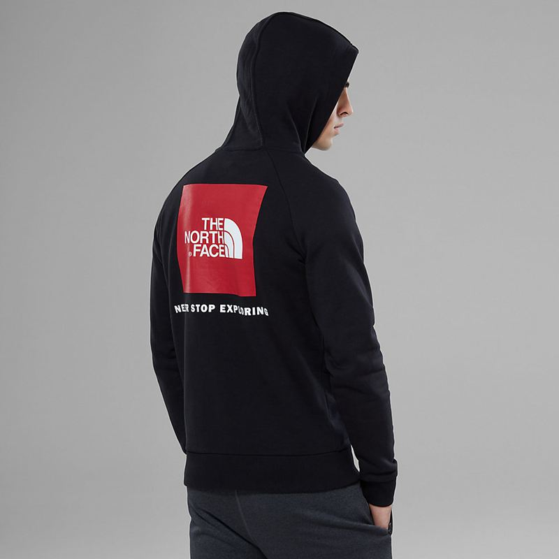Felpe Con Cappuccio The North Face Raglan Red Box 7490DLN Uomo - Nere